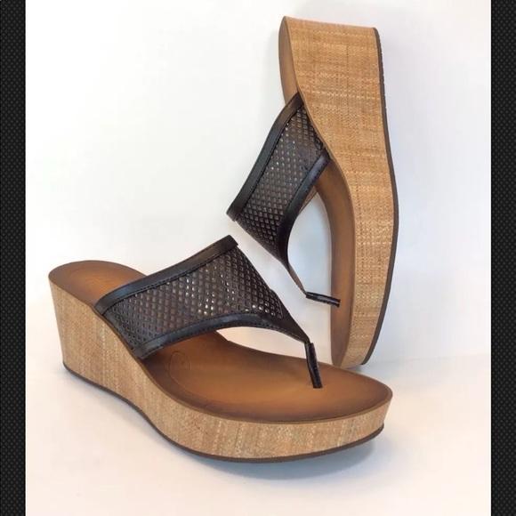 f16e7ca88e9 Clarks Narrative Avaleen Ocean BLACK Wedge Sandal